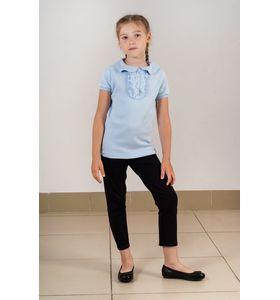 """Блузка школьная для девочки """"Глаша"""" с жабо"""