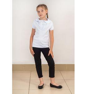 """Блузка школьная для девочки """"Кира"""" с жабо"""