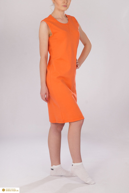 """Платье женское """"Апельсин"""" без рукава"""