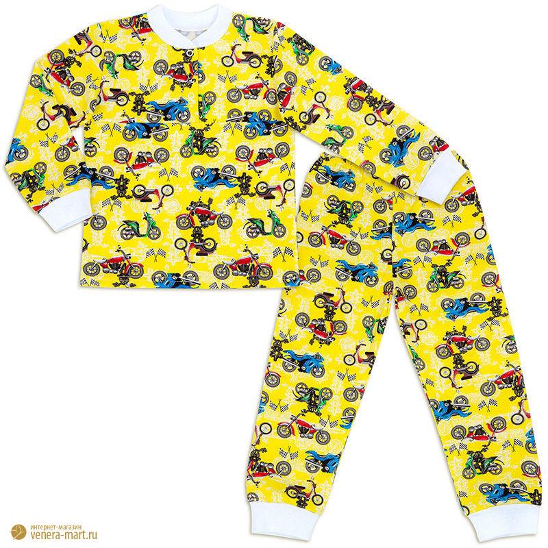 Пижама для мальчика с манжетами