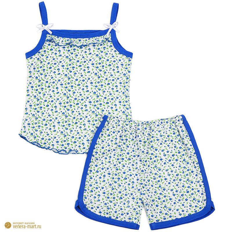 """Пижама для девочки на бретелях """"Цветик"""""""