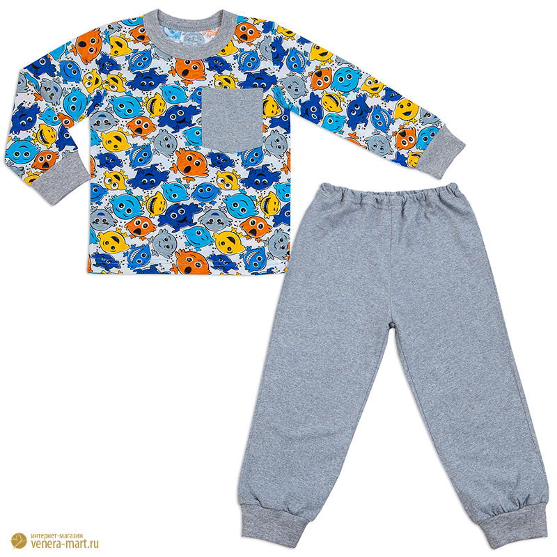 """Пижама для мальчика """"Клякса"""""""